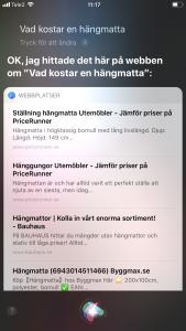 Röstsökning med Siri