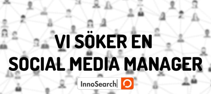 InnoSearch söker en Social Media Manager